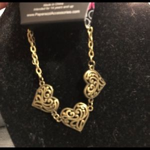 Gold hearts Bracelet brand new with tags